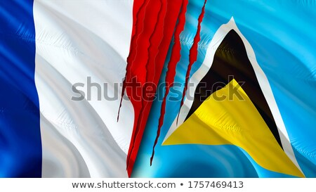 France and Saint Lucia Flags Stock photo © Istanbul2009