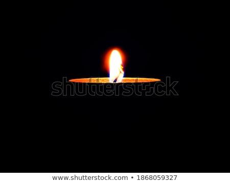 velas · ardor · oscuridad · negro · luto · llama - foto stock © haraldmuc
