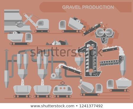 гравий производства пейзаж строительство работу промышленности Сток-фото © Mikko