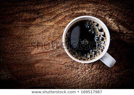 Overhead view of a freshly brewed mug of  black  coffee  Stock photo © nessokv