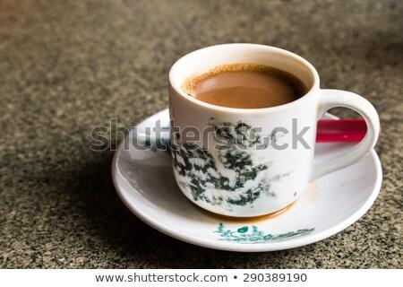 Hagyományos távolkeleti kínai kávé klasszikus bögre Stock fotó © tang90246