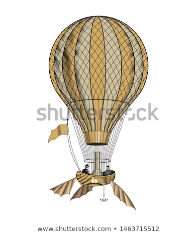 Montgolfier Hot Air Balloon, vintage engraving Stock photo © Morphart