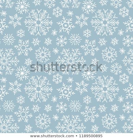 бесшовный темно синий снежинка вектора шаблон Сток-фото © lenapix