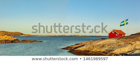 Huis Zweden zuiden hemel venster Stockfoto © jeancliclac