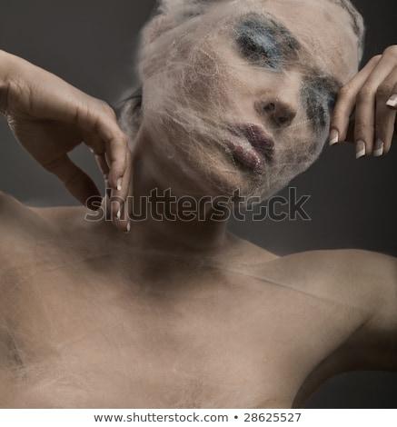 Arte ritratto fasciatura donna mano Foto d'archivio © konradbak