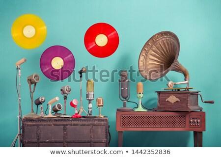 döner · tabla · parti · disko · kulaklık · kulüp · ses - stok fotoğraf © igorij