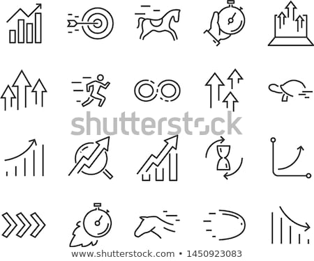 cloud with arrow up line icon stock photo © rastudio