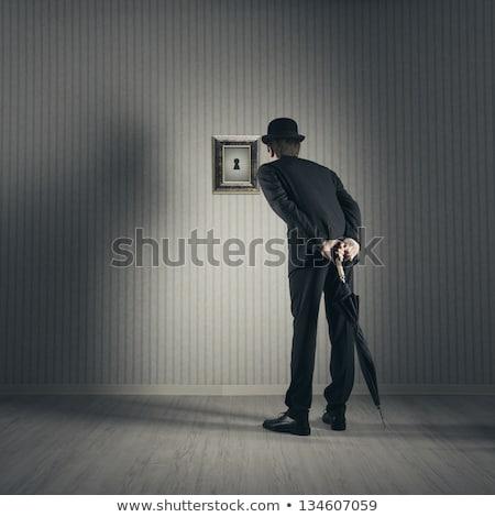 Espionnage serrure illustration fête amour homme Photo stock © adrenalina