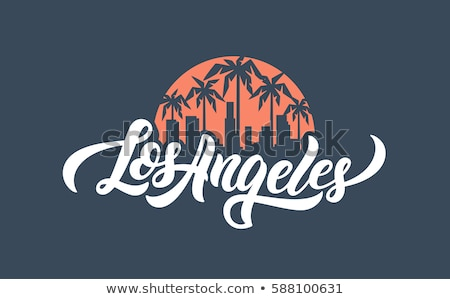 Los Angeles texto pesado desenho animado nome cidade Foto stock © blamb