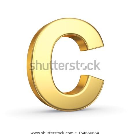 Letra c polido dourado objeto branco Foto stock © creisinger