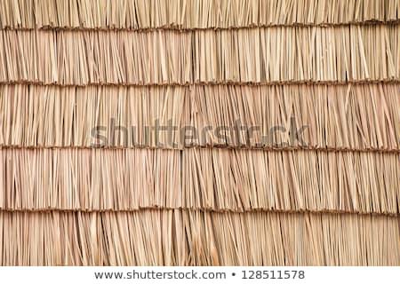 diagonal · détail · brun · bois · toit · construction - photo stock © thp