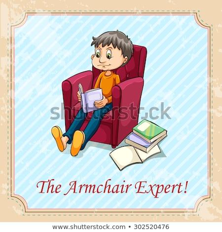 Poltrona especialista livros criança projeto Foto stock © bluering