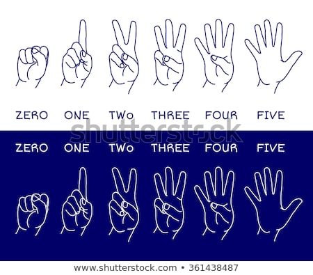 Doodle Counting Fingers icon Stock photo © pakete