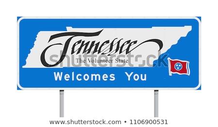 Tennessee podpisania Pokaż kraju widziane znak drogowy Zdjęcia stock © AndreyKr