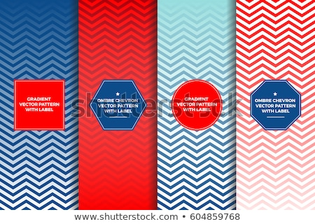 Stock photo: Horizontal red labels with copy space vector template.
