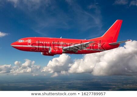 Piros repülőgép illusztráció fehér üzlet háttér Stock fotó © bluering