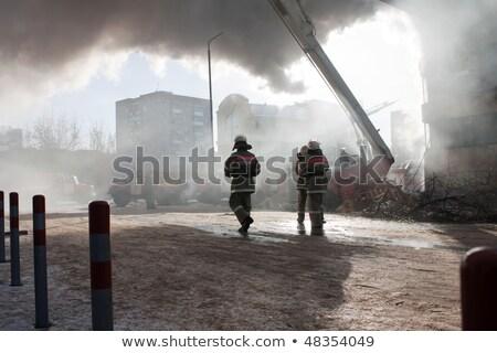 火災 シーン 消防 建物 実例 男 ストックフォト © bluering