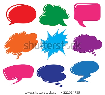 Buttons with empty callout templates Stock photo © bluering