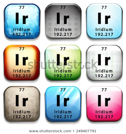 A button showing the element Iridium Stock photo © bluering