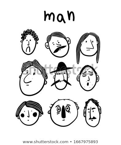 vector · establecer · simple · masculina · caras · diferente - foto stock © bluering
