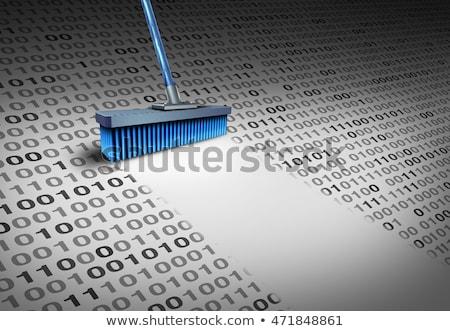danych · technologii · miotła · czyste · kod · binarny · bezpieczeństwa - zdjęcia stock © lightsource
