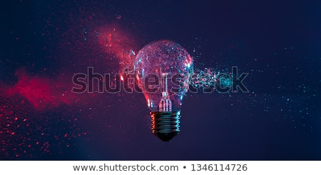 A purple light bulb Stock photo © bluering