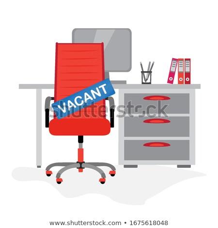 Kırmızı ofis koltuğu vektör dizayn örnek yalıtılmış Stok fotoğraf © RAStudio