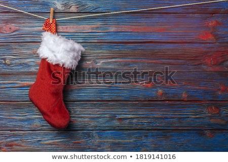 Рождества носки подвесной иллюстрация настоящее празднования Сток-фото © adrenalina
