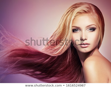 Beauty portrait of woman with blonde hair and creative makeup Stock photo © deandrobot