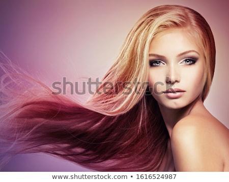 szépség · portré · nő · szőke · haj · kreatív · smink - stock fotó © deandrobot
