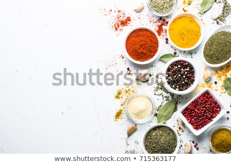 Variation of spices with copy space Stock photo © goir