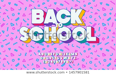 back to school set eps 10 stock photo © beholdereye
