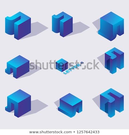 Drop schaduw doopvont letter l 3D 3d render Stockfoto © djmilic