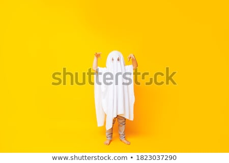 Kid wearing ghost costume Stock photo © bluering