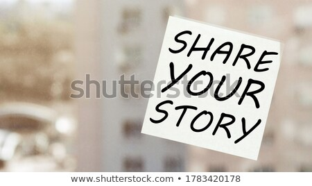 what is your story handwritten with white marker stock photo © ivelin