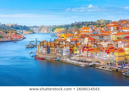 oude · binnenstad · Portugal · skyline · water · huis - stockfoto © joyr