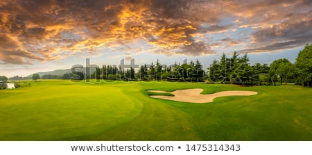 Golf course with farm in the background Stock photo © njnightsky