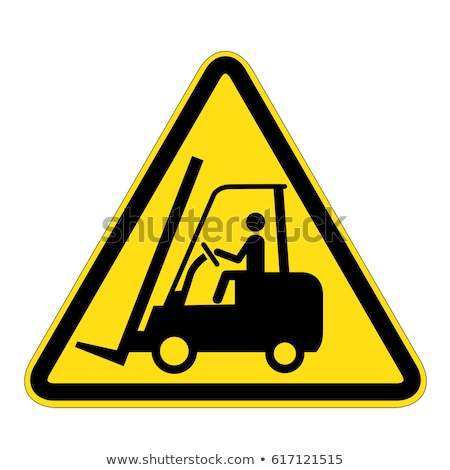 Fork lift truck warning sign Stock photo © stevanovicigor