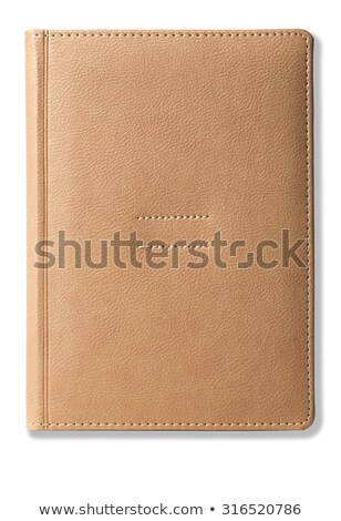 The book in leather cover isolated on white.  Stock photo © kayros