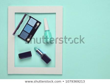 Menta kreatív csendélet nyitva smink arc Stock fotó © Fisher
