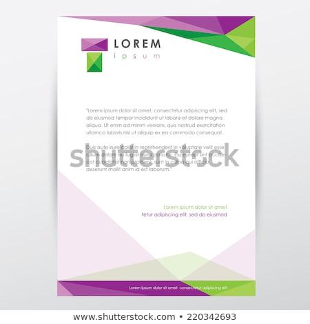Grünen Identität Briefkopf Design-Vorlage drucken Corporate Stock foto © SArts