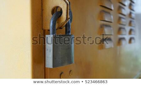 Old padlock, close up Stock photo © stevanovicigor