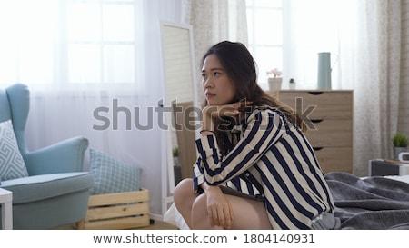 клубника · губ · языком · фотография · белый · женщину - Сток-фото © fisher