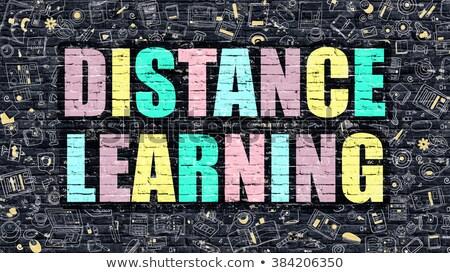 Distanza apprendimento buio moderno illustrazione Foto d'archivio © tashatuvango