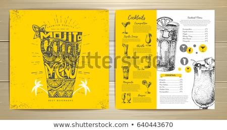 Cocktails and wine bar menu design Stock photo © Dimpens