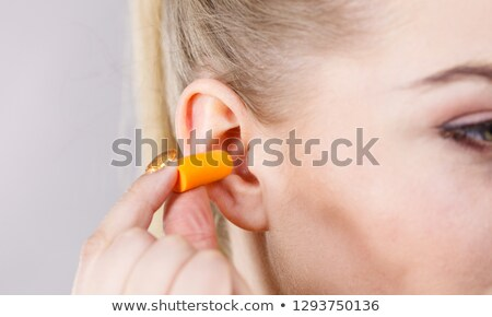 Stockfoto: Oor · vrouw · medische · home · slaap