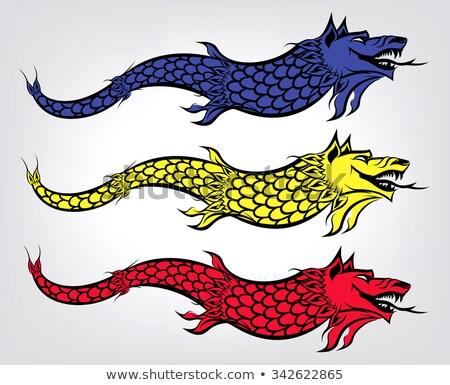 Farkas zászló történelmi régió királyság szimbólum Stock fotó © tony4urban