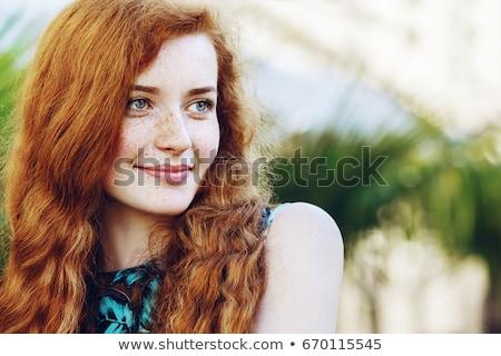 элегантный · женщину · позируют · терраса · молодые · замечательный - Сток-фото © dash