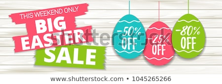 price sticker with text easter sale stock photo © olena