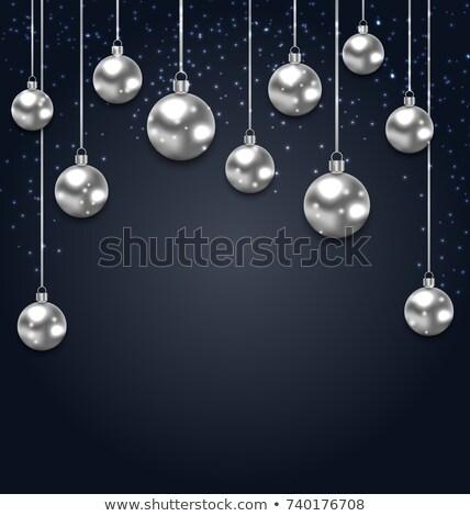 natal · prata · vítreo · magia · luz - foto stock © smeagorl